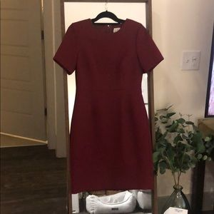 Burgundy pencil dress from j.crew
